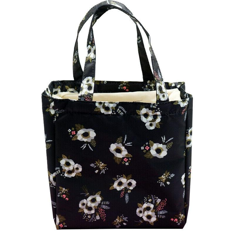 Women's Insulated Bag Travel Tote Print Carry Food Box Bags