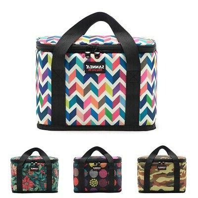 Portable Zipper Lunch Bag Cooler Insulated Thermal Camping P
