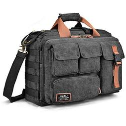 LOKASS 17.3 Inches Laptop Bag Canvas Messenger Bag Business
