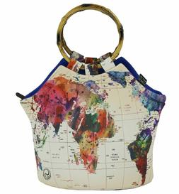"""Art of Lunch Large Neoprene Lunch Bag Purse 11"""" X 15"""" X 6"""" R"""