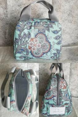 Vera Bradley Lighten Up Lunch Bag Cooler Fan Flowers School