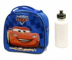 New Lightning McQueen Red Cars Blue School Lunch Box Bag & B