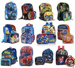 Little Boys School Backpack Lunch box Set Cartoon Book Bag K