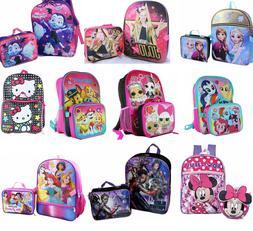 Little Girls School Backpack Lunch box Set Large Cartoon Boo