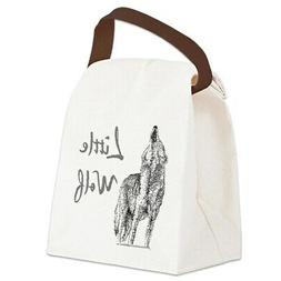 CafePress Little Wolf Canvas Lunch Bag with Strap Handle