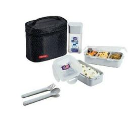 Lock&Lock Lunch Bag Set 2-Pieces, Water Bottle, Spoon & Fork