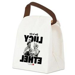 CafePress Lucy To My Ethel Canvas Lunch Bag with Strap Handl