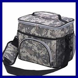 HMQINYI 14L Large Lunch Box For Man camouflage Insulated Lun