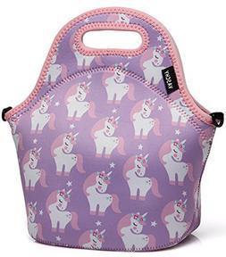 VASCHY Lunch Box Bag for Girls, Neoprene Insulated Lunch Tot