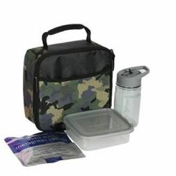 Arctic Zone Lunch Bag Combo Green Camo Insulated Bag Bottle