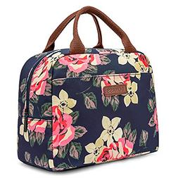 LOKASS Lunch Bag Cooler Bag Women Tote Bag Insulated Lunch B