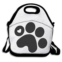 ScutLunb Lunch Bag Dog Paw Prints Lunch Tote Lunch Box For W