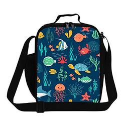 Creativebags Lunch Bag Food Tote With Water Holder Pocket fo