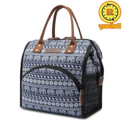 LOKASS Lunch Bag Insulated Lunch Tote Box Wide-Open Lunch Co