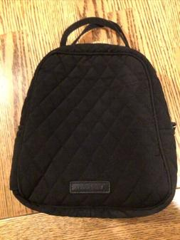 Vera Bradley Lunch Bag Insulated QUILTED Black 8 X 9