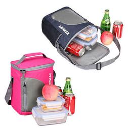 Lunch Bag Large Cooler Bag For Men Women Rose Red Dark Blue