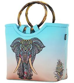 Lunch Bag Tote Bag by QOGiR - Large Reusable Insulated Neopr