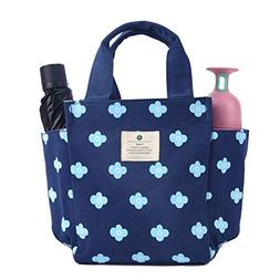 Lunch Bag Box Tote Handbag with Water Bottle Holder for Wome