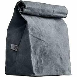 Colony Co. Lunch Bag Waxed Canvas Durable Gray For Men, Wome
