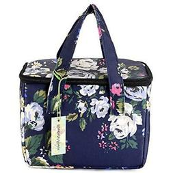 "Lunch Bags Box Cooler Lunch Bag Flower  Kitchen "" Dining"