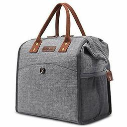 CoolBELL Lunch Bags For Women Tote Water-Resistant Cooler So