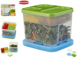 Rubbermaid Lunch Blox Container Salad Kit Lunch Boxes, New