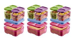 Rubbermaid Lunch Blox Kid's Tall Lunch Box Kit, Purple/Pink/