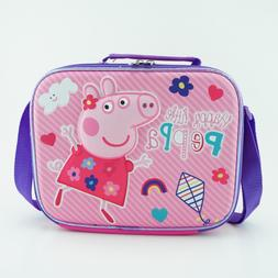 Peppa Pig Lunch Box Girls with Shoulder Strap Animated Insul