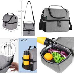 F40C4TMP Lunch Box Insulated Double Deck Bag For Men Women 1