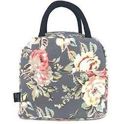 Lunch Boxes Insulated Cooler Bag Lunch Bag Flower  Kitchen ""