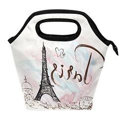ALAZA Lunch Tote Bag Fantastic Eiffel Tower Paris Romantic F