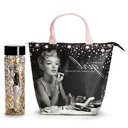 Marilyn Monroe Lunch Tote & Bottle: Insulated Lunch Bag and