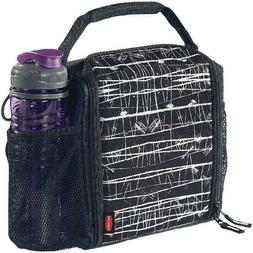 LunchBlox Insulated Lunch Bag Medium Black Etch Lightweight