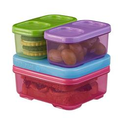 Rubbermaid LunchBlox Kid's Tall Lunch Box Kit, Pink/Purple/G