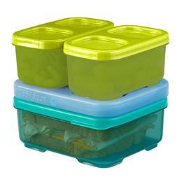 Rubbermaid LunchBlox Kid's Tall Lunch Box Kit, Blue/Green