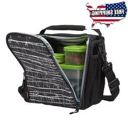 Rubbermaid LunchBlox Lunch Bag, Medium, Black Etch Medium