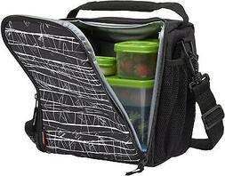Rubbermaid LunchBlox Lunch Bag Medium Black Etch