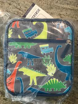 Pottery Barn Kids Mackenzie Classic Lunch Bag Gray Dinosaur
