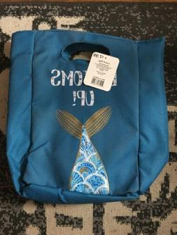 MERMAID   ''BOTTOMS UP'' Zippered Insulated Lunch Bag NWT