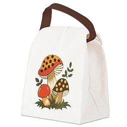 merry mushroom canvas lunch bag canvas lunch