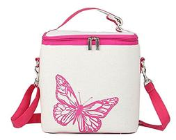 Muitifunction Canvas Freezable Bento Lunch Bag Insulation Co