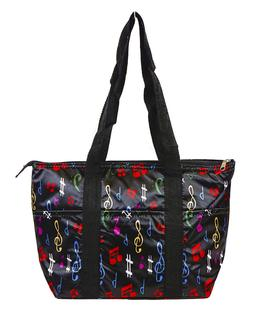 Musical Music Print Theme Reusable Lunch Tote Bag Insulated