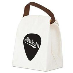 CafePress Nashville Guitar Pick Canvas Lunch Bag with Strap
