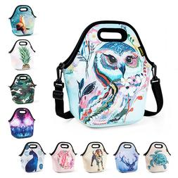 Neoprene Lunch Bag for Girls Kids Waterproof Large Food Insu