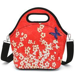 iColor Neoprene Lunch Bag with Cutlery Kit Neoprene Case for