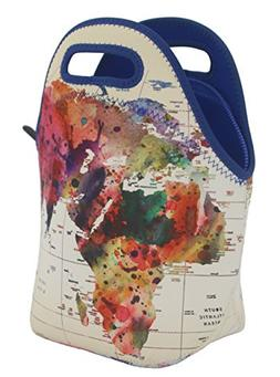 Neoprene Lunch Bag by ART OF LUNCH - Large  Gourmet Insulati