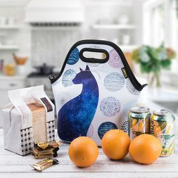 Neoprene Lunch Bag Cat Lunch bags for Women Girls Kids Men T