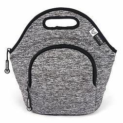 LunchFox Eco-Friendly Neoprene Lunch Bag , Heather Grey Mela