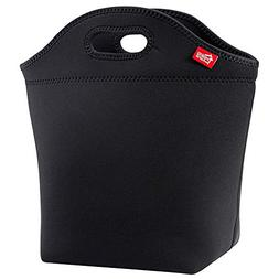 """Large Black Neoprene Lunch Bag for Adults, Yookeehome 14"""" x"""