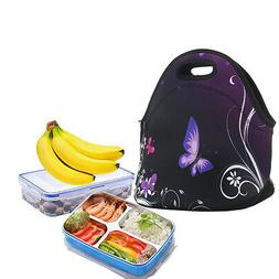Neoprene Portable Insulated Lunch Bag Box Tote Picnic Bag Fo